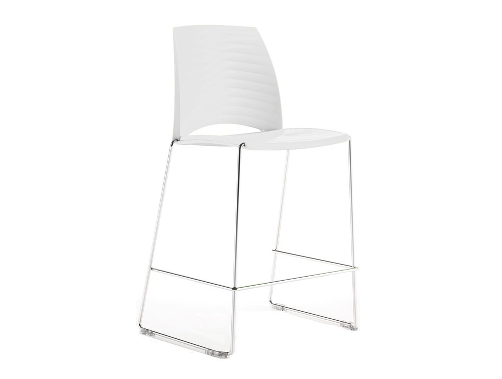 Sand Sled Stackable Conference Stool - White