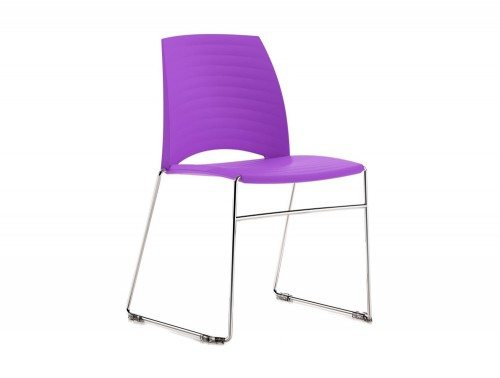S1P Sand Sled Stackable Conference Chair in Purple