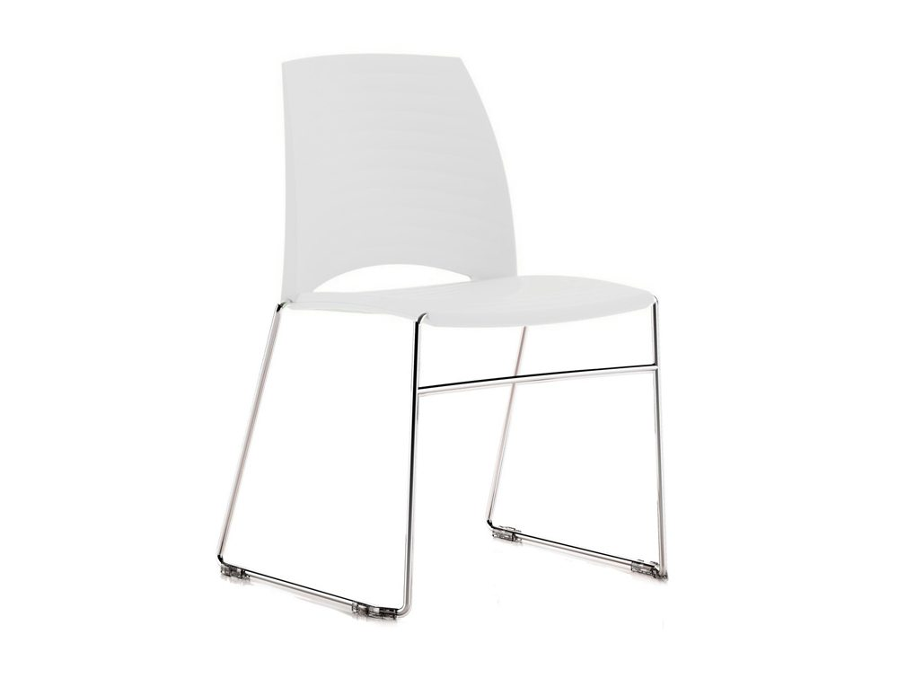 Sand Sled Stackable Conference Chair - White