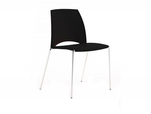 S2BK Sand 4 Legged Chair in Black