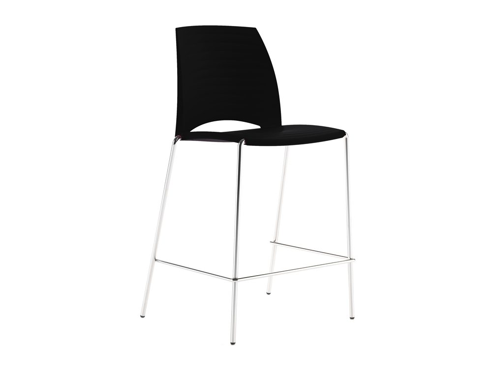 S2HSBK Sand 4 Legged Stool in Black