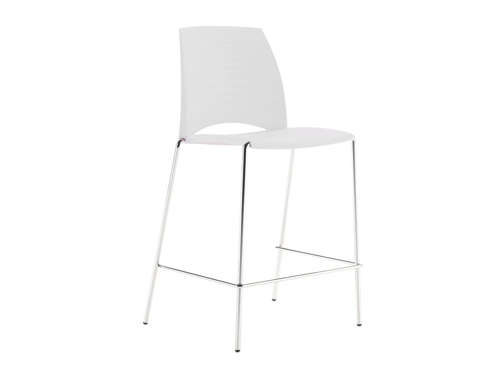 S2HSW Sand Stackable 4 Legged Stool in White
