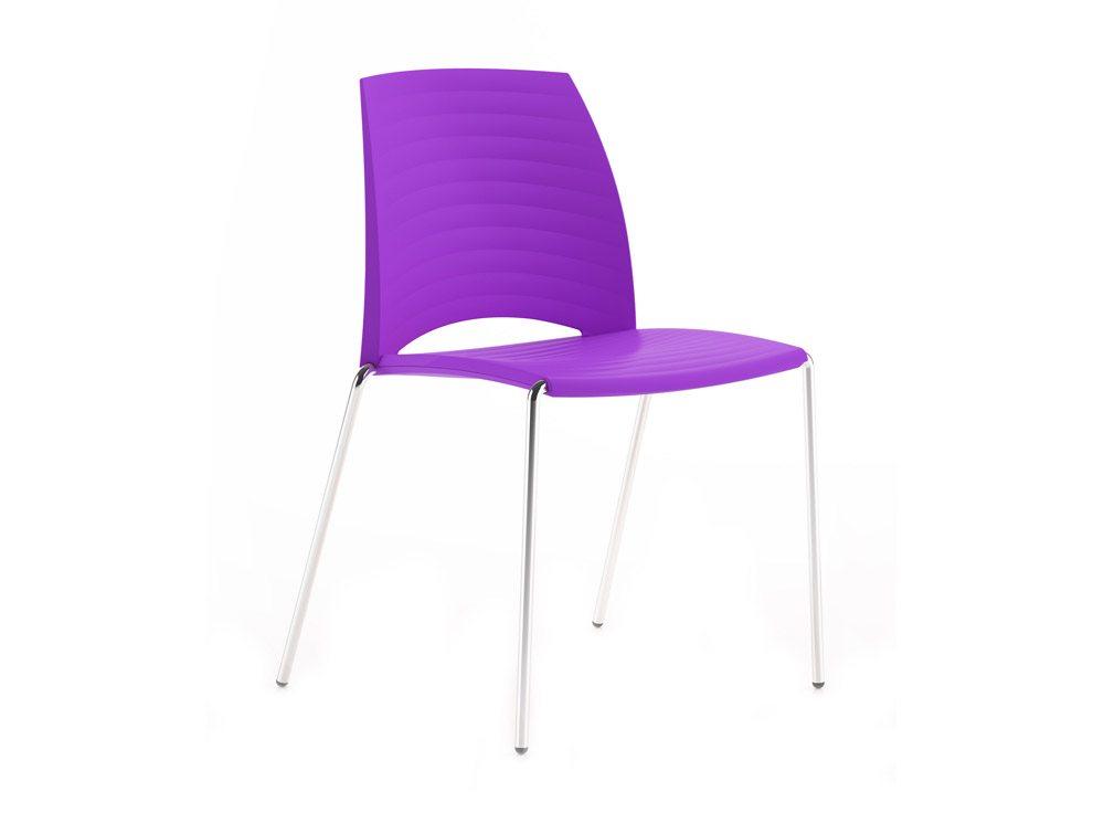 Sand 4 Legged Chair In Purple