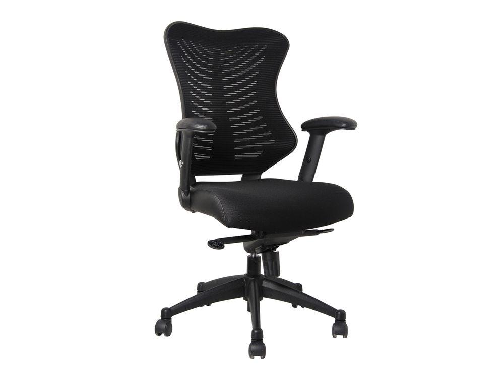 delux spine task chair in black