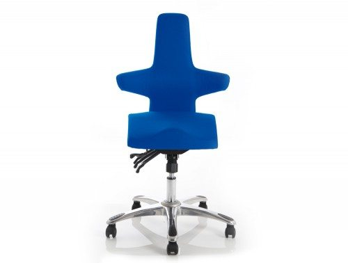 Saltire Posture Chair Blue Fabric Featured Image