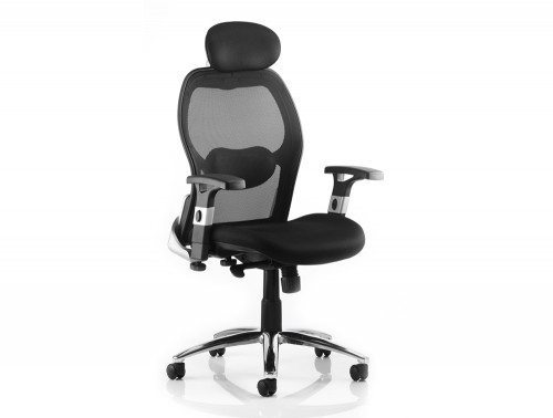 Sanderson Executive Chair Black Airmesh Seat With Mesh Back With Arms Featured Image