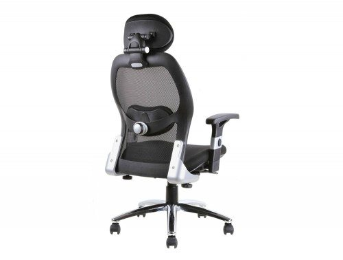 Sanderson Executive Chair Black Airmesh Seat With Mesh Back With Arms Image 4