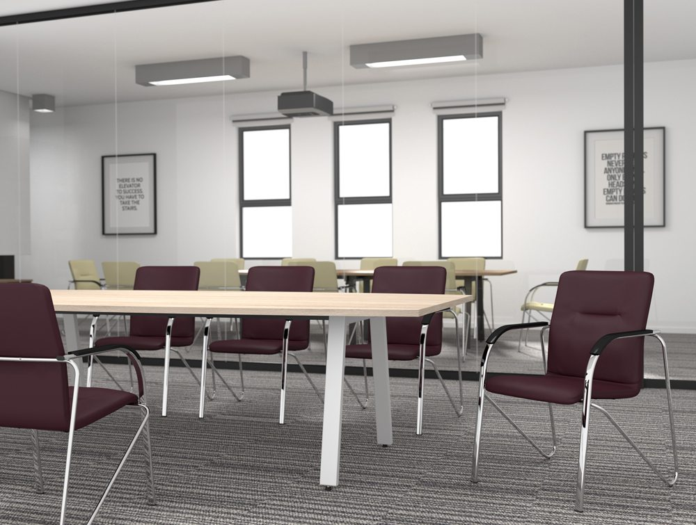Sandy Office Cantilever Stacking Chair Maroon