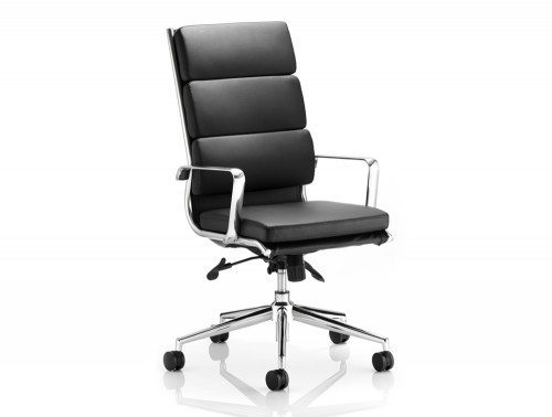 Savoy Executive Black Bonded Leather High Back With Arms Featured Image