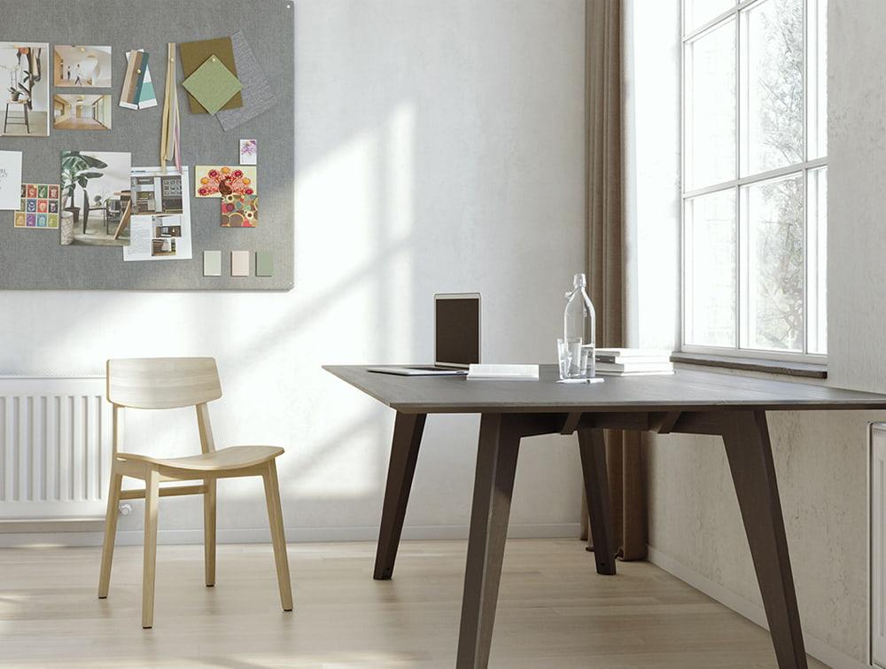 Scandi Wooden 4 Legged Home Office Scandinavian Style