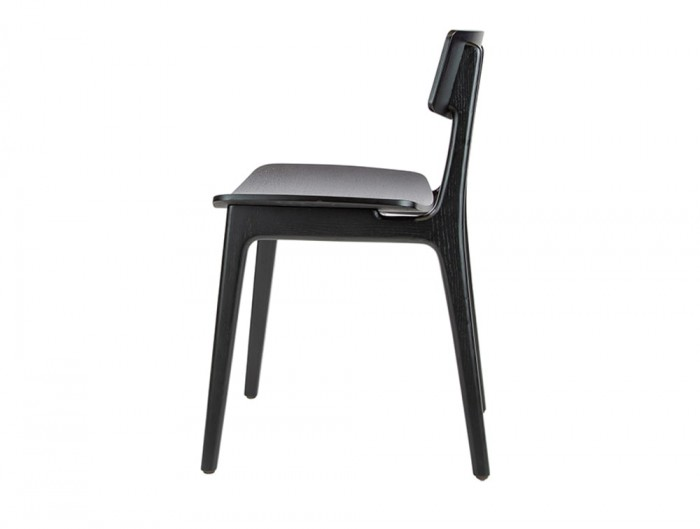 Scandi Wooden Meeting Room and Canteen Chair in Black