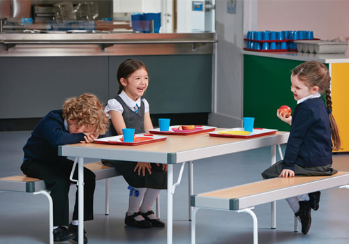 School and Education Furniture Canteen Area with Table and Bench for Primary School
