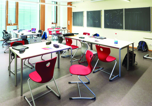 Secondary School Classroom Table and Ergonomic Chairs