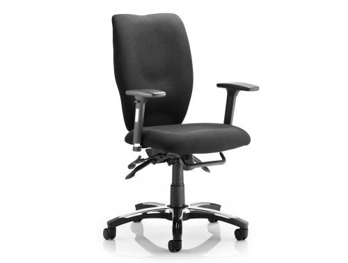 Sierra Task Chair Black Fabric With Arms Featured Image