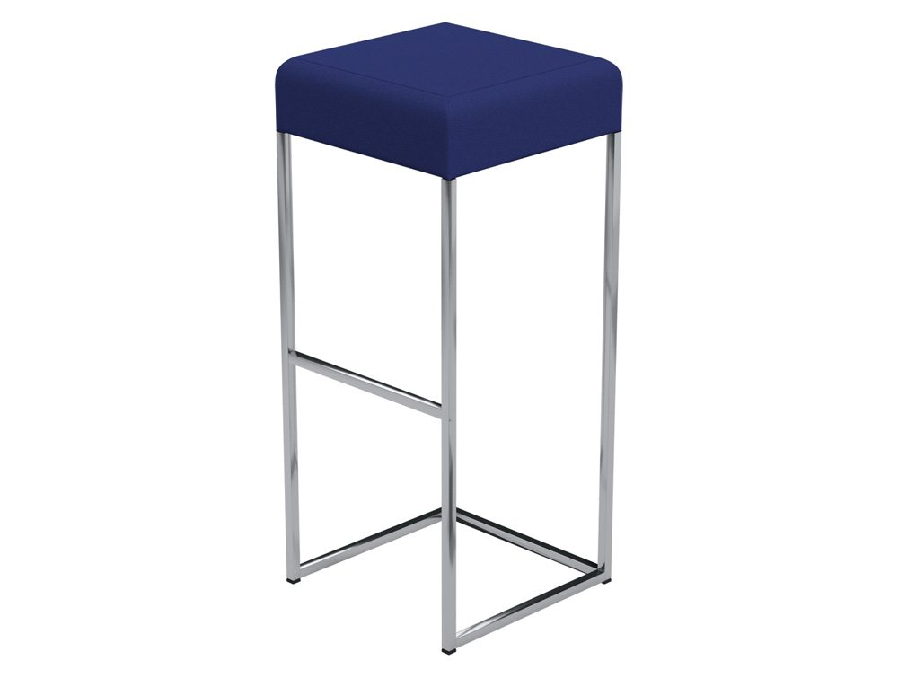 Sim Canteen Bar High Stool in E031 Navy