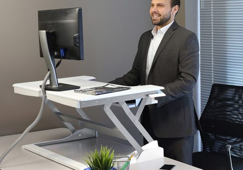 Sit-Stand Desk Mount Office Ergonomics