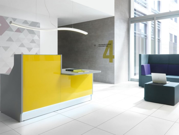 Snake Overhead Office Reception Area and Meeting Room Lights High Gloss White