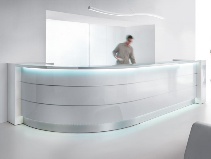 Snake Overhead Office Reception Area and meeting Room Lights High Gloss White Furniture Modern