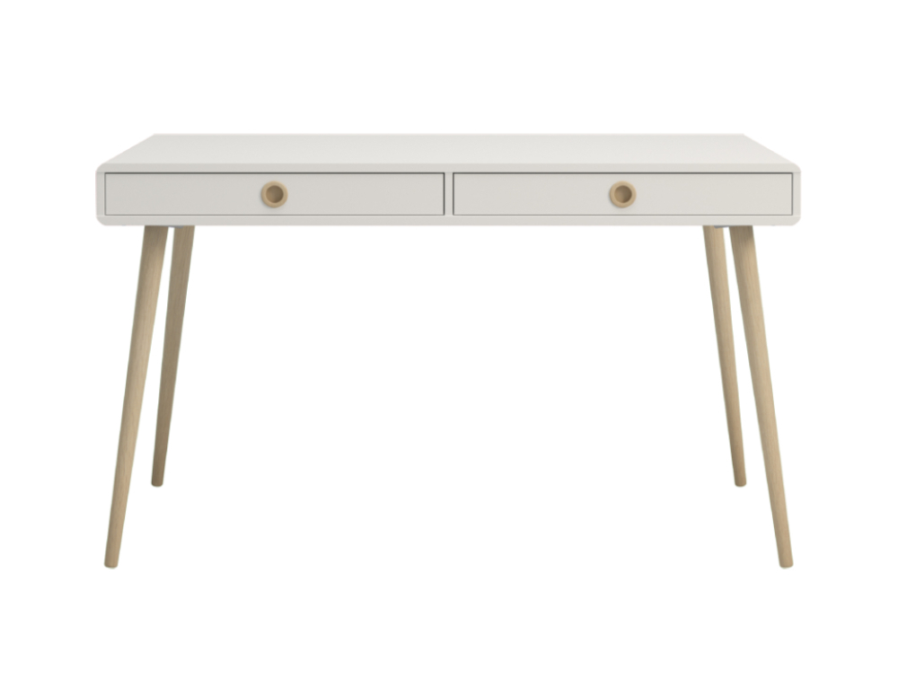 Softline Home Office 2 Drawer Desk Wide - White