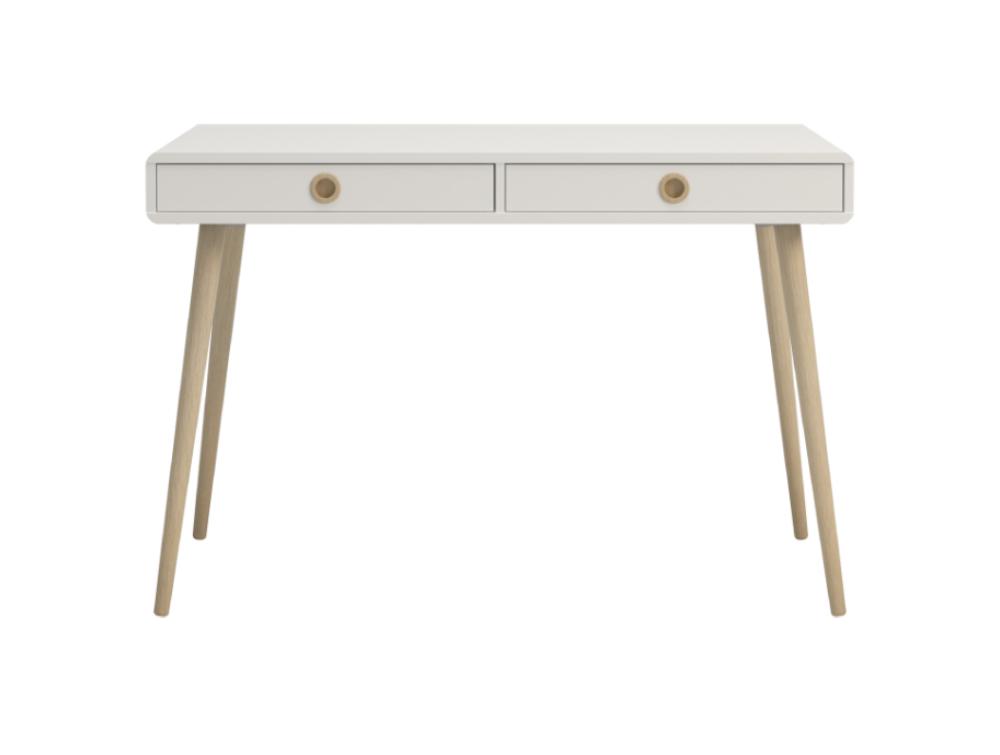 Softline Home Office 2 Drawer Desk - White