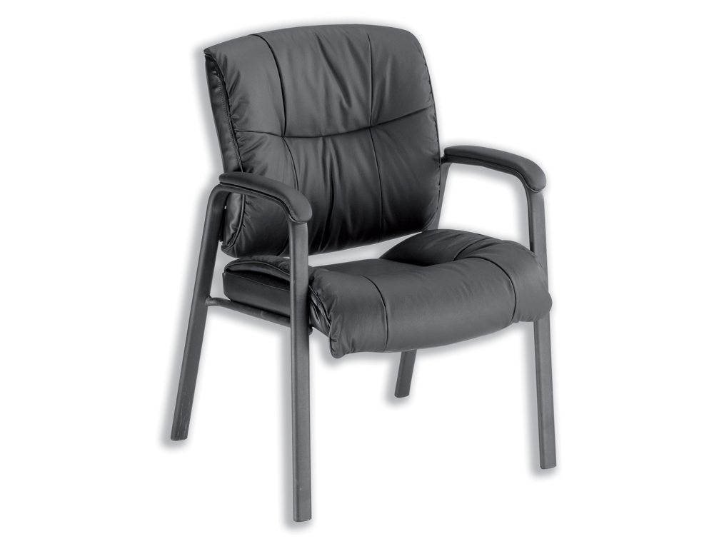 Sonix Camden Visitors Chair in Black Leather
