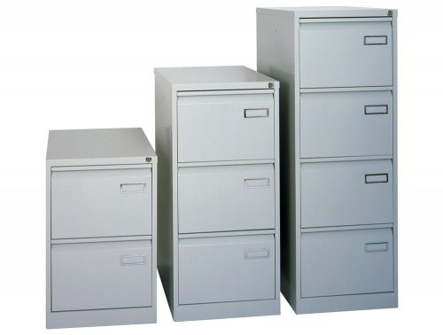 Sonix Superior Filing Cabinet 2-Drawer 40kg Capacity in Grey
