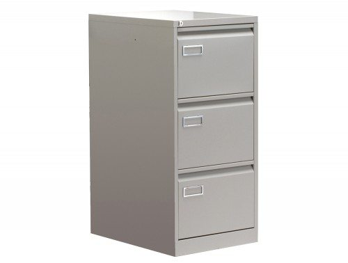 Sonix Superior Filing Cabinet 3-Drawer 40kg Capacity in Grey