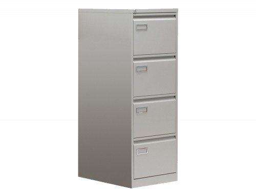 Sonix Superior Filing Cabinet 4-Drawer 40kg Capacity in Grey
