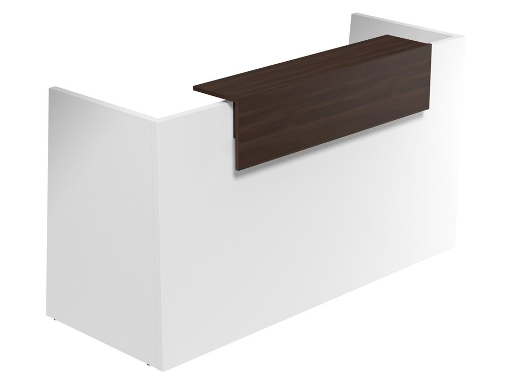 Sove Large Reception - White Finish - Walnut Riser