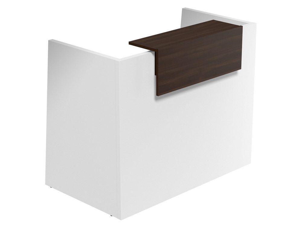 Sove Small Reception - White Finish - Walnut Riser
