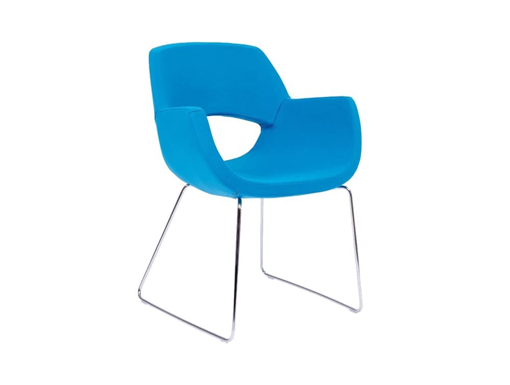 Spekta Tub Arm Chair with Skid Base