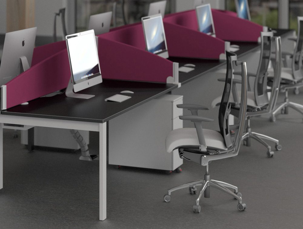 Sprint Eco Curved Desk Screen in Purple