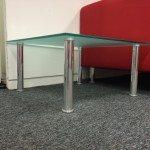 Square Glass reception table
