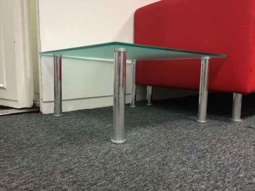 Square Glass reception table