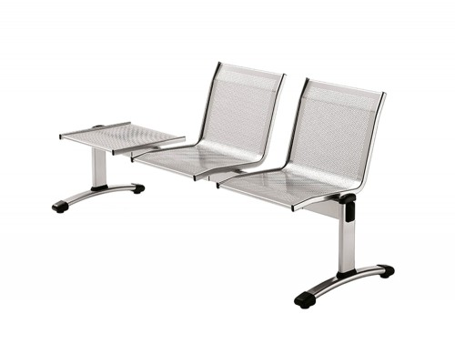 Star 2-Seater Beam Seating Chair Metal Frame with Table