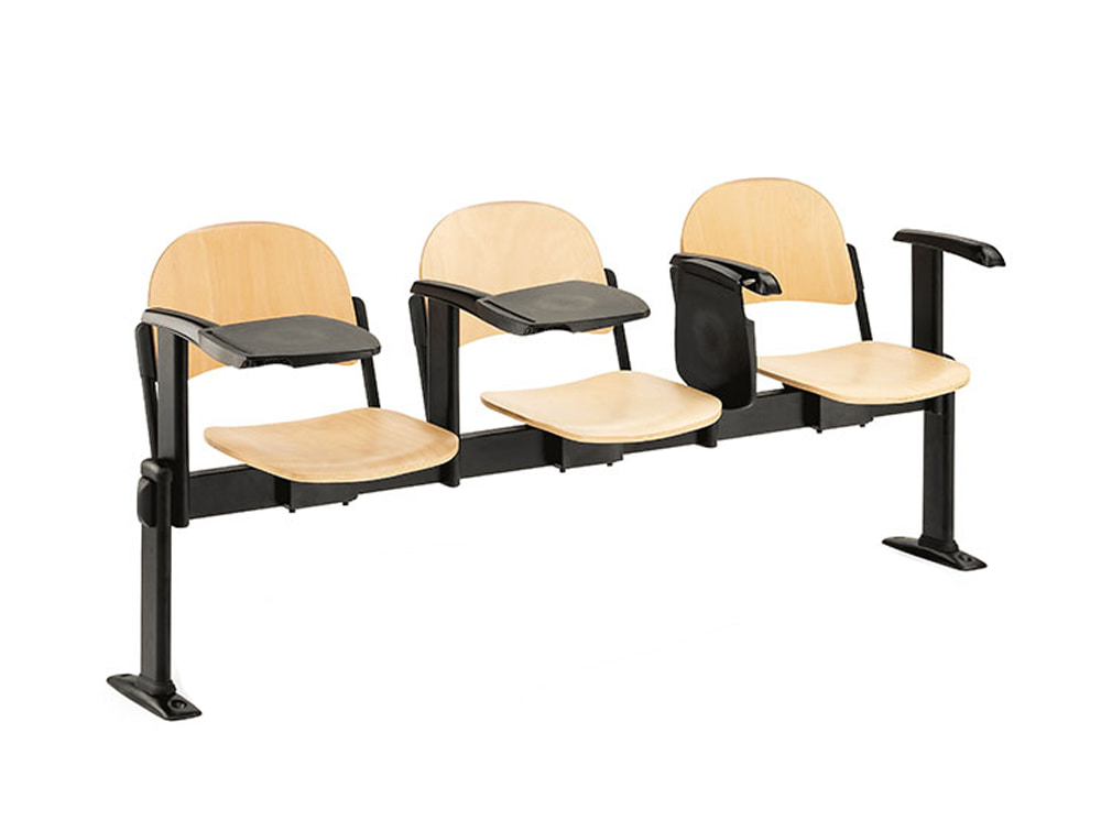 Star 3-Seater Beam Seating Chair with Armrest and Tablet Arms