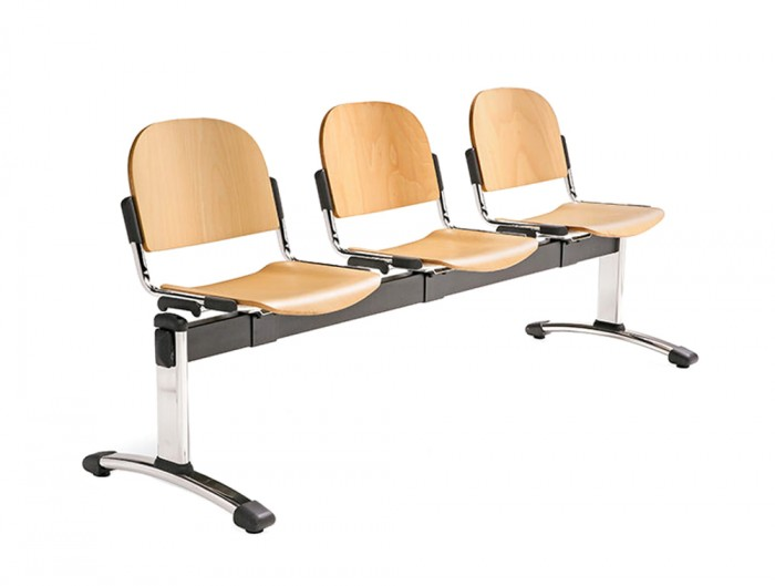 Star 3-Seater Beam Seating Wooden Chair