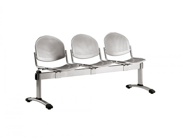 Star Modular Metal Bean Seating Chairs with Curved Body Design