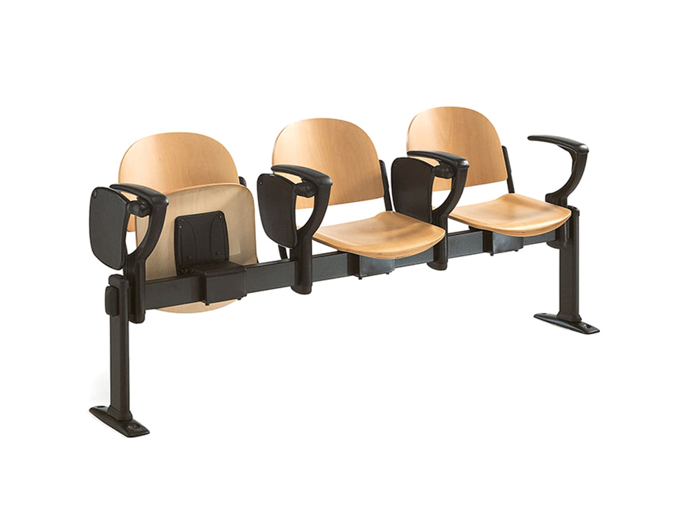 Star Modular Wooden Beam Seating Chair with Armrests