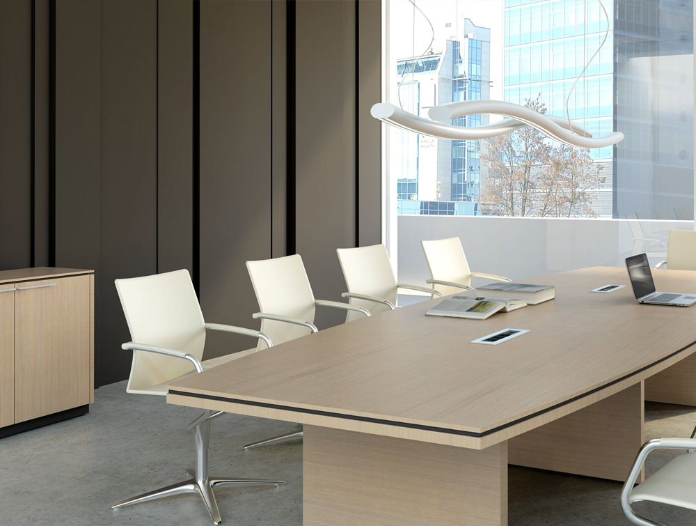 Status-Executive-Boardroom-Table-with-Storage-Cupboard-in-Canadian-Oak-Finish-and-White-Ergonomic-Chairs
