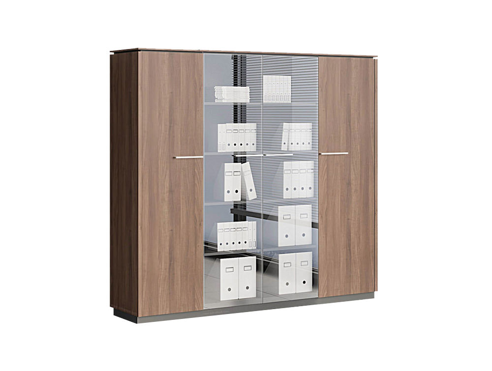 Status Executive Double 1-Door Tall Storage with Glass Cabinet