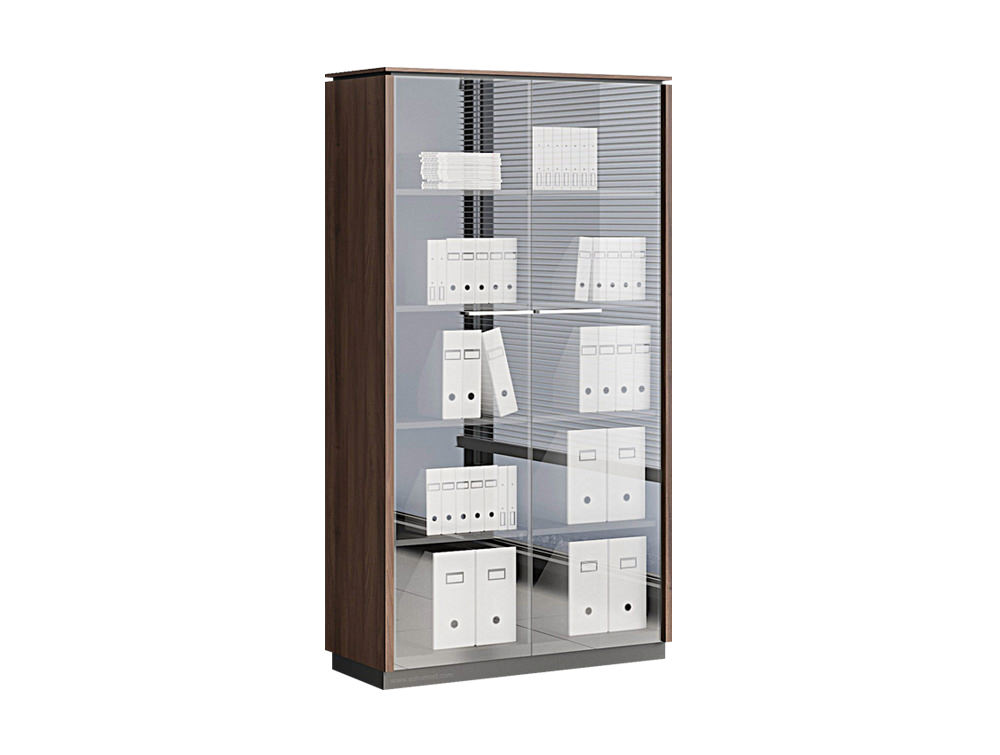 Status Executive 2-Door Glass Tall Storage Cabinet