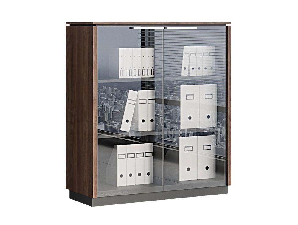 Status Executive 2-Door Glass Storage Cabinet