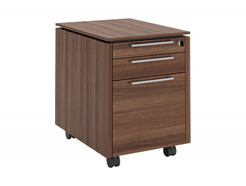 Status-Executive-Furniture-Range-3-Drawer-Mobile-Pedestal-in-Lowland-Nut-Finish