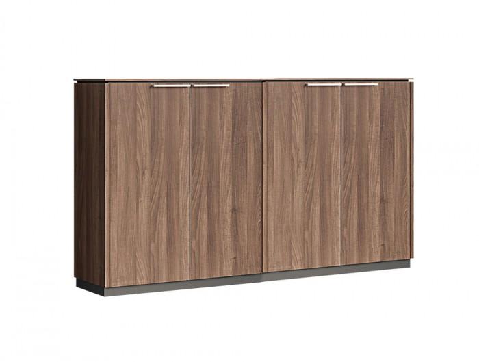 Status-Executive-Furniture-Range-4-Doors-Closed-Storage-Medium-Cabinet-in-Lowland-Nut-Finish