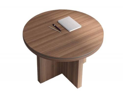 Status-Executive-Furniture-Range-Circular-Meeting-Table-in-Lowland-Nut-Finish