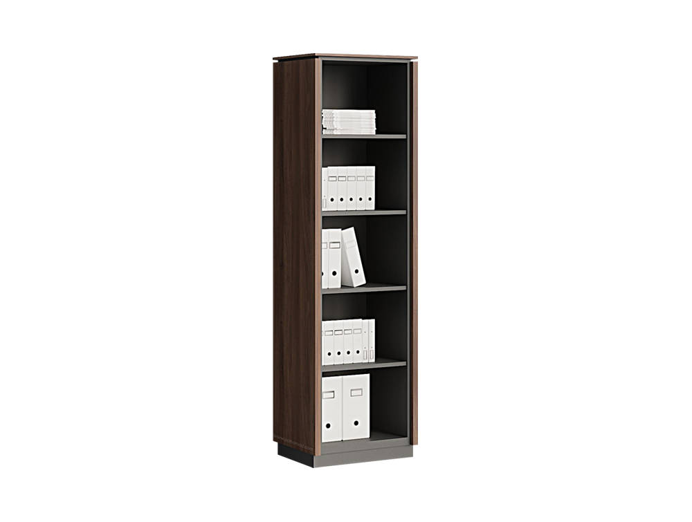 Status Executive Open Tall Bookcase Storage with 5-Level