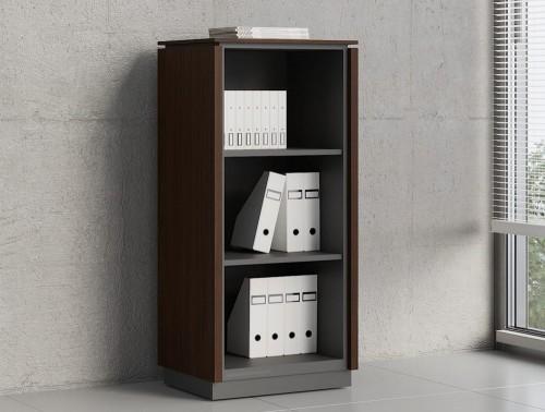 Status-Executive-Furniture-Range-Medium-Open-Book-Storage-Cabinet-in-Chestnut-Finish
