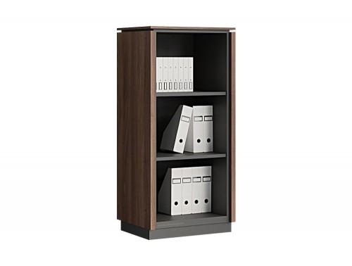 Status-Executive-Furniture-Range-Medium-Open-Book-Storage-Cabinet-in-Lowland-Nut-Finish