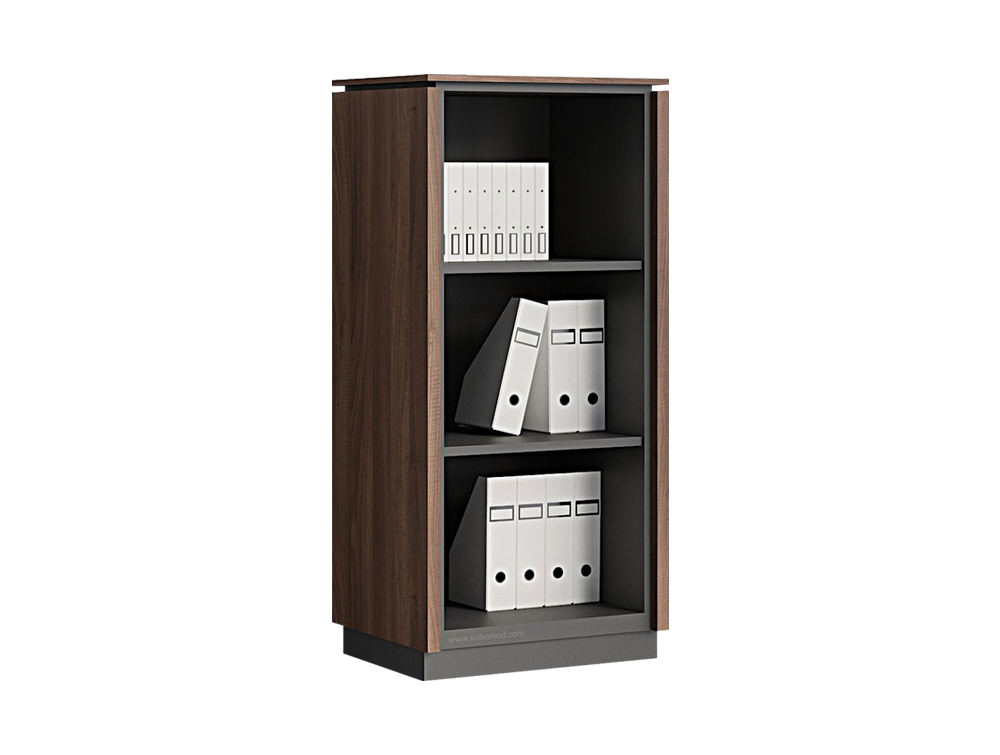 Status Executive Open Bookcase Storage with 3-Level